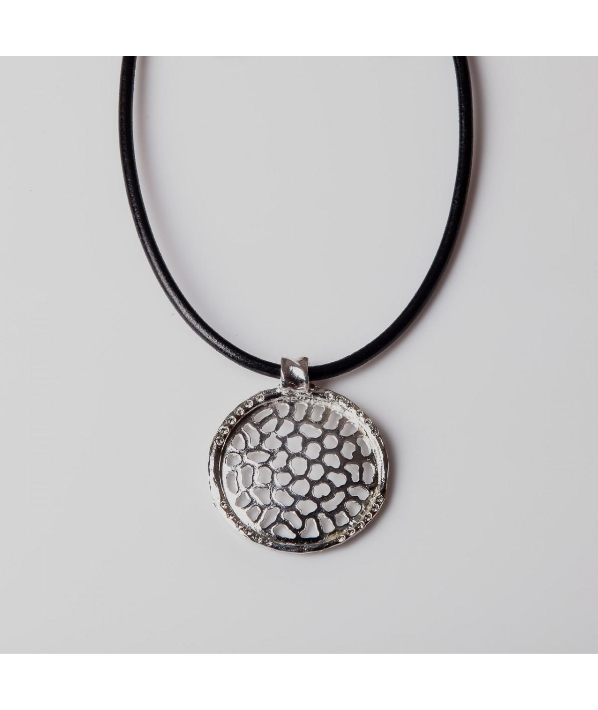 Collar circular plata
